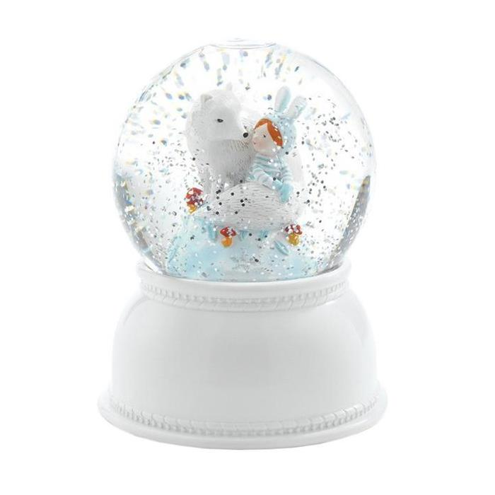 Djeco Snow Globe Night Light - Lila & Pupi