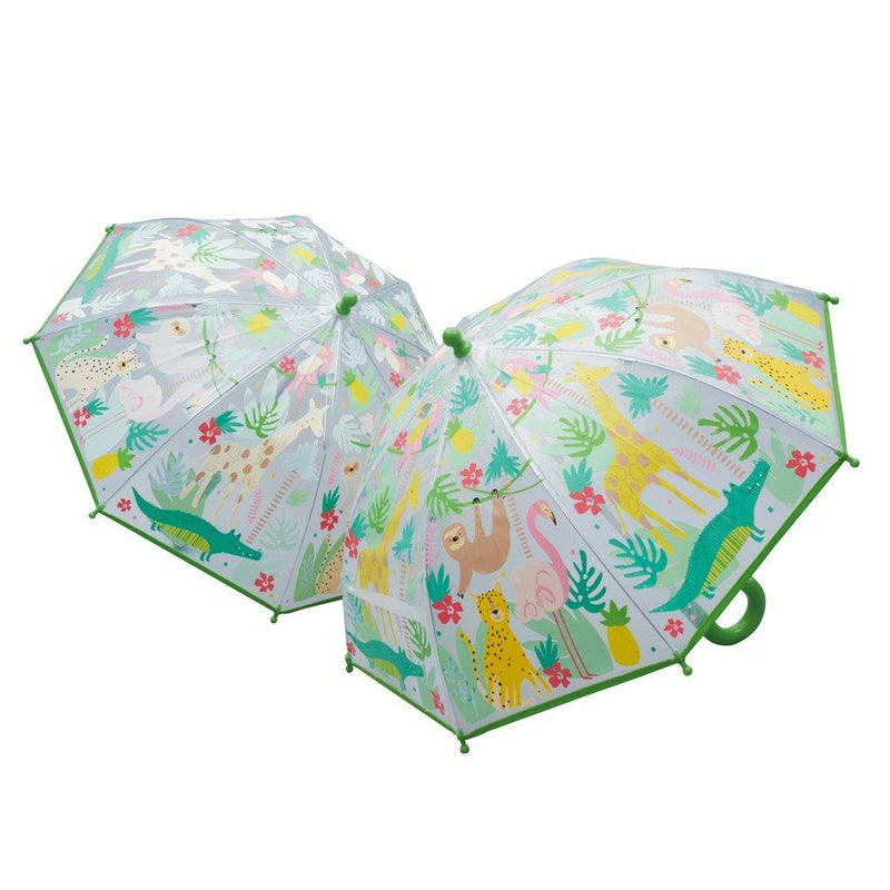 Jungle Colour Changing Umbrella by Floss & Rock