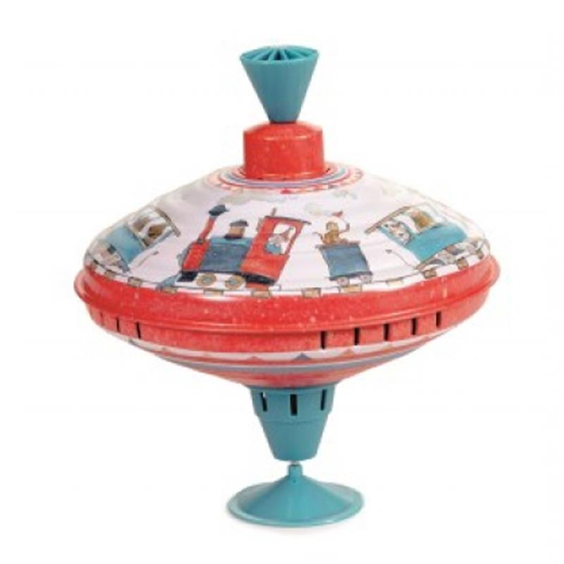 Egmont Large Humming Spinning Top - Train