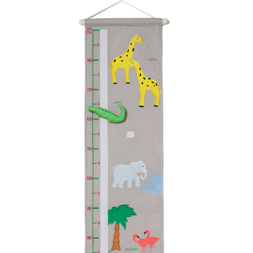 Oskar & Ellen Fabric Wild Animals Height Chart - I Want That Present
