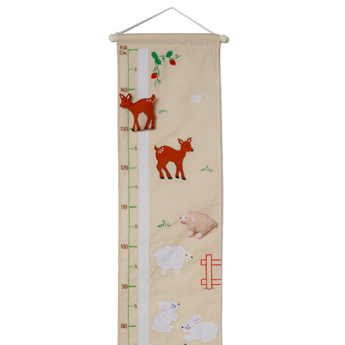 Oskar & Ellen Fabric Forest Animals Height Chart