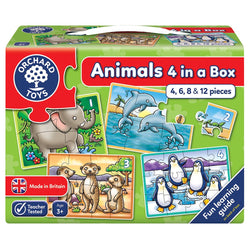 Animals 4 in a Box Puzzle