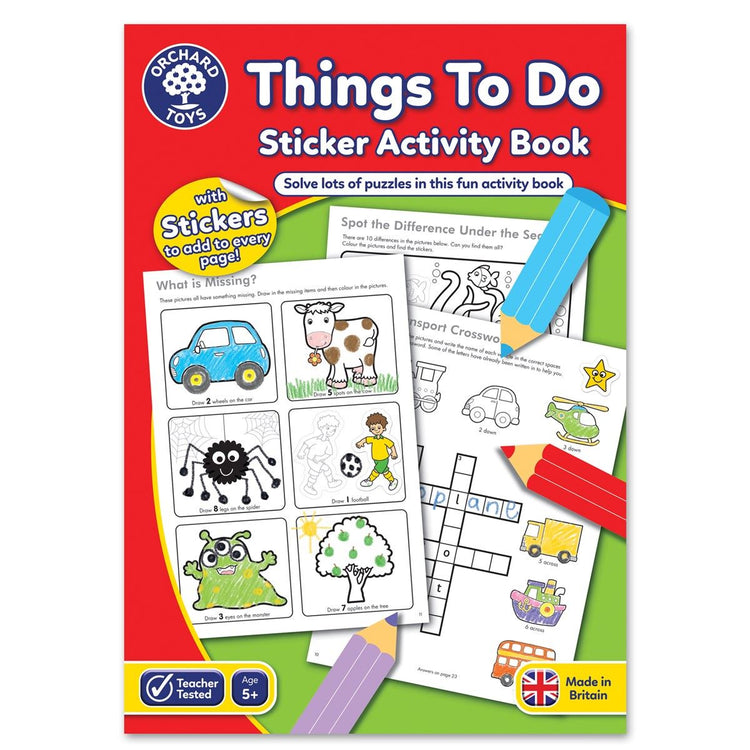 Things To Do Avtivity Book