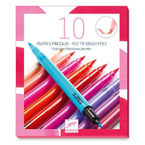 10 Double-ended Felt Tip Pens - Pinks