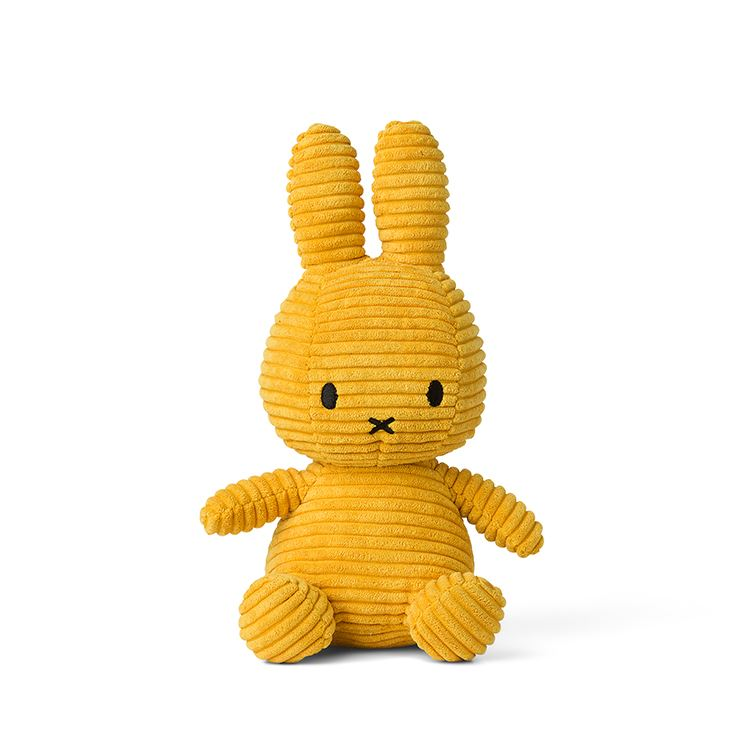 Miffy Corduroy Yellow 24cm Soft Toy