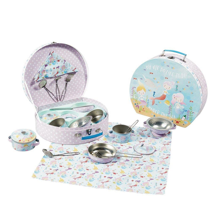 Mermaid 10 Piece Tin Kitchen Set