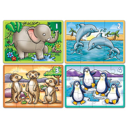 Animals 4 in a Box Puzzle - I Want That Present