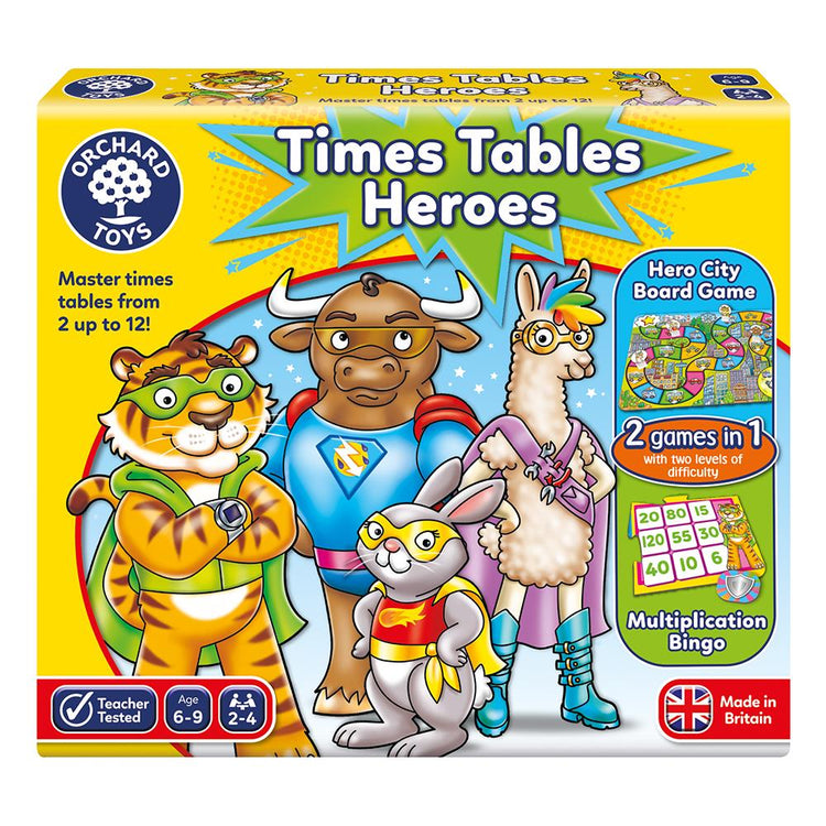 Times Tables Heros Game