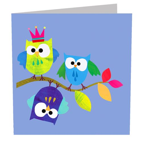 Blank Card - Owls - I Want That Present