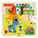 Wooden Tray Farm Puzzle