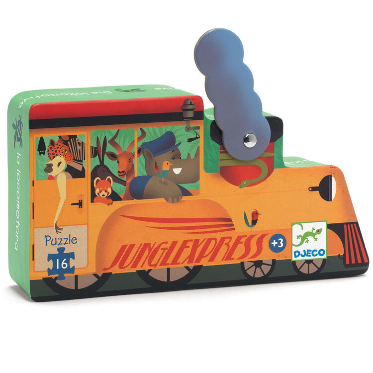 Silhouette Puzzle - Locomotive  (16pc)