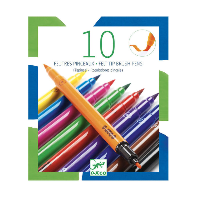 10 Double-ended Felt Tip Pens - Classic Colours