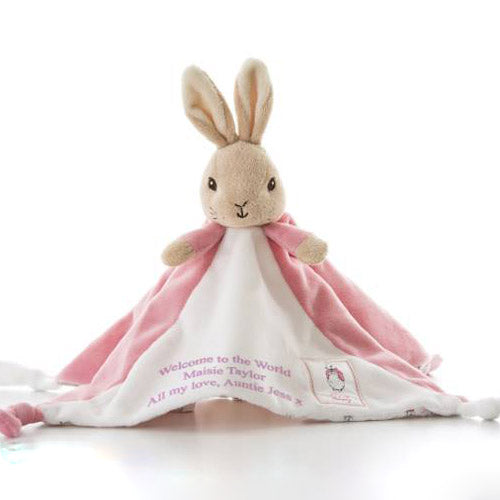 Personalised Flopsy Rabbit Comfort Blanket