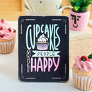 Miniature 'Cakes Make People Smile' Wooden Sign