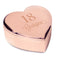 Personalised Big Age Rose Gold Heart Trinket Box