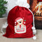 Personalised Teddy My 1st Christmas Luxury Pom Pom Red Sack