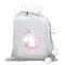 Personalised Unicorn Grey Luxury Sack
