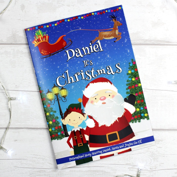 "Personalised Boys ""It's Christmas"" Story Book"
