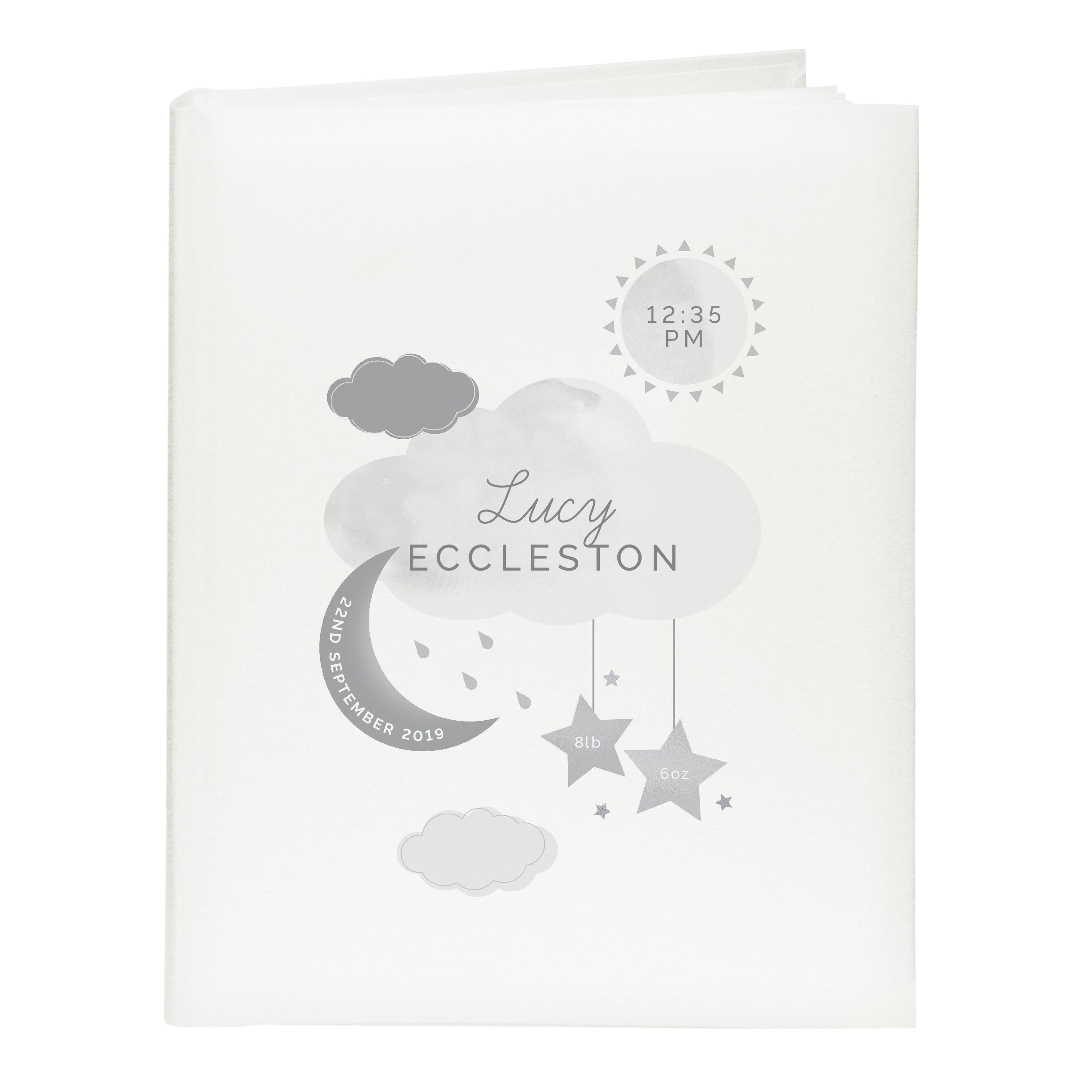 Personalised New Baby Moon & Stars