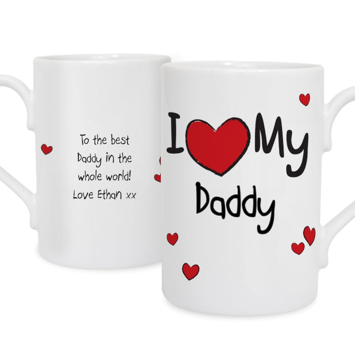 Personalised 'I Heart My......' Slim Mug