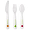 Personalised Healthy Eating 3 Piece Plastic Cutlery Set