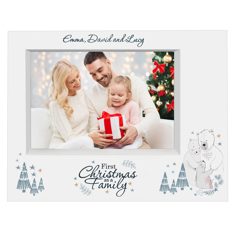 Personalised Polar Bear '1st Christmas As A Family' Frame
