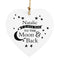 Personalised To the Moon and Back.... Wooden Heart Decoration