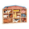 Wooden Farmyard Animals and Shelf Set