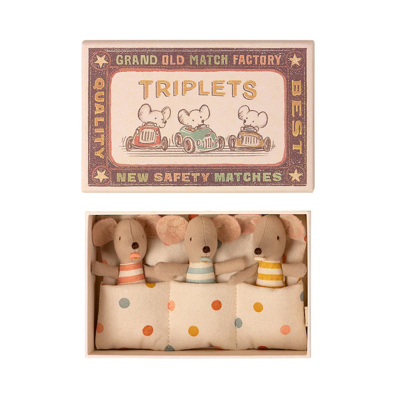 Maileg Baby Mice Triplets in Matchbox (SS21)