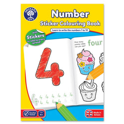 Number Colouring Book - I Want That Present
