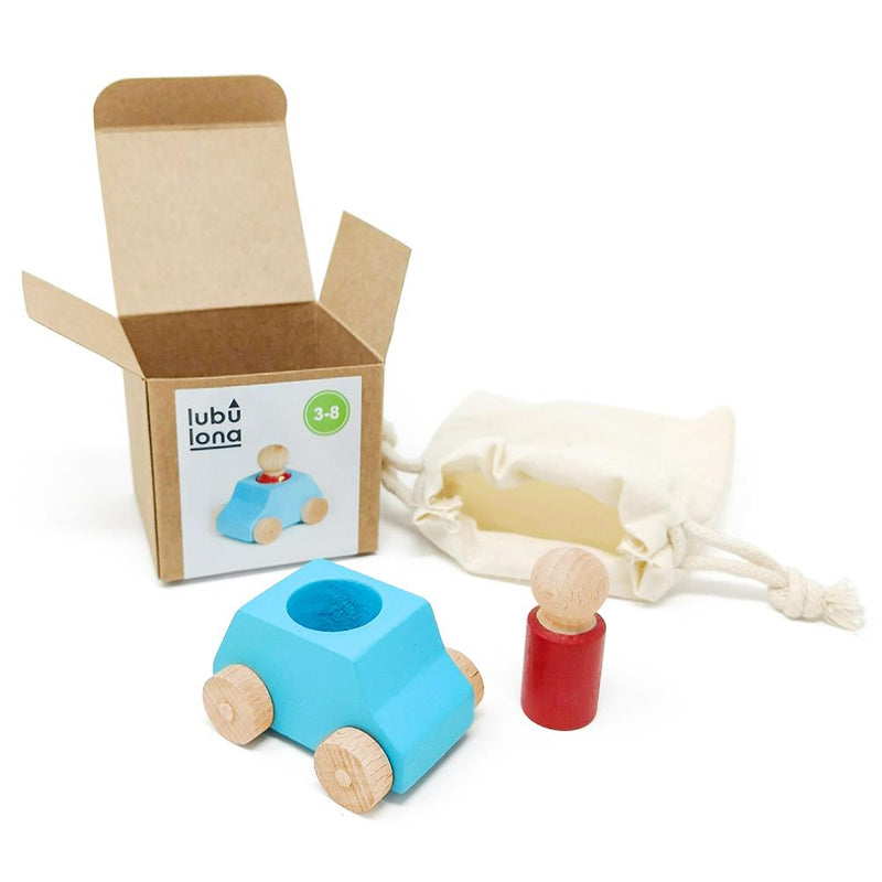 Lubulona Wooden Toy Car - Turquoise