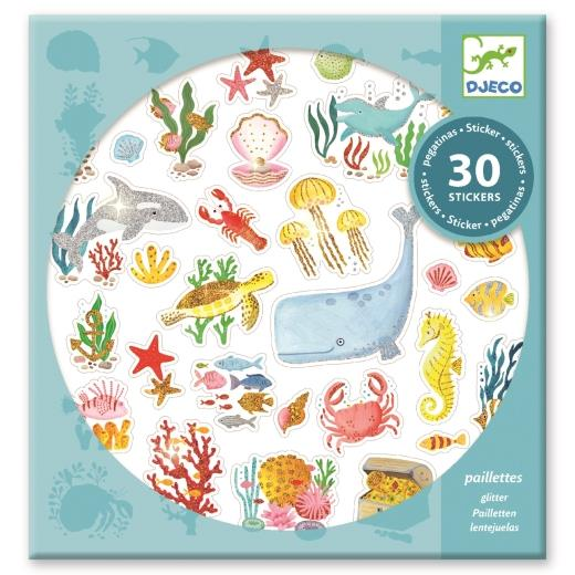Djeco Aqua Dream Textured Glitter Stickers