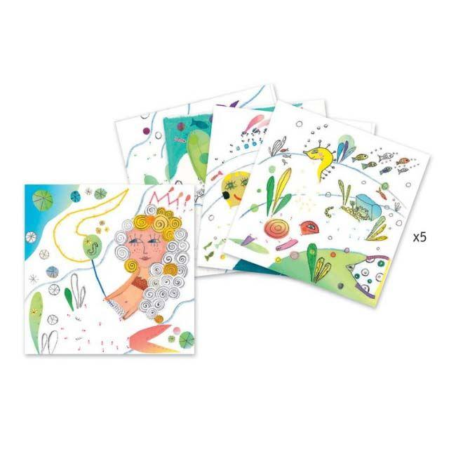 Dot to Dot Colouring Cards - A Jaunt at Sea