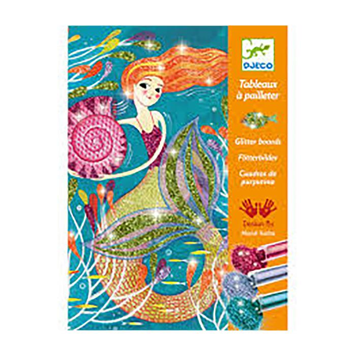 Arts & Crafts - Glitter Boards - Mermaid Lights