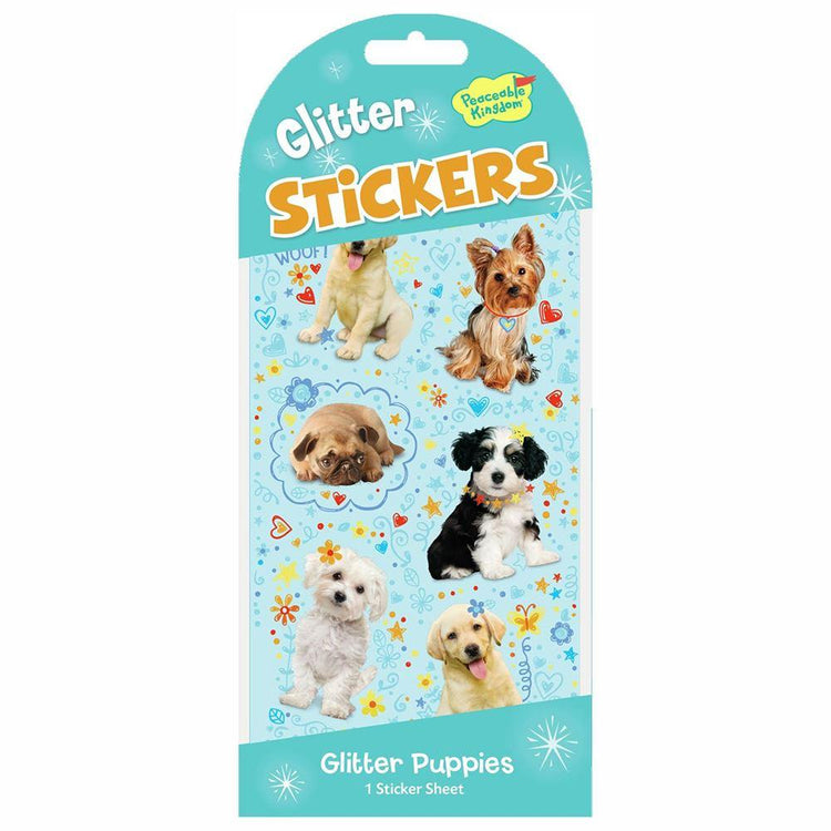 Arts & Crafts - Glitter Stickers - Glitter Puppies