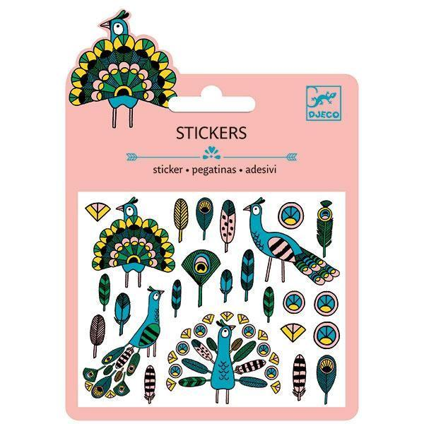 Arts & Crafts - Mini Stickers - Feathers And Peacocks