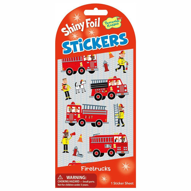 Arts & Crafts - Shiny Stickers - Fire Trucks