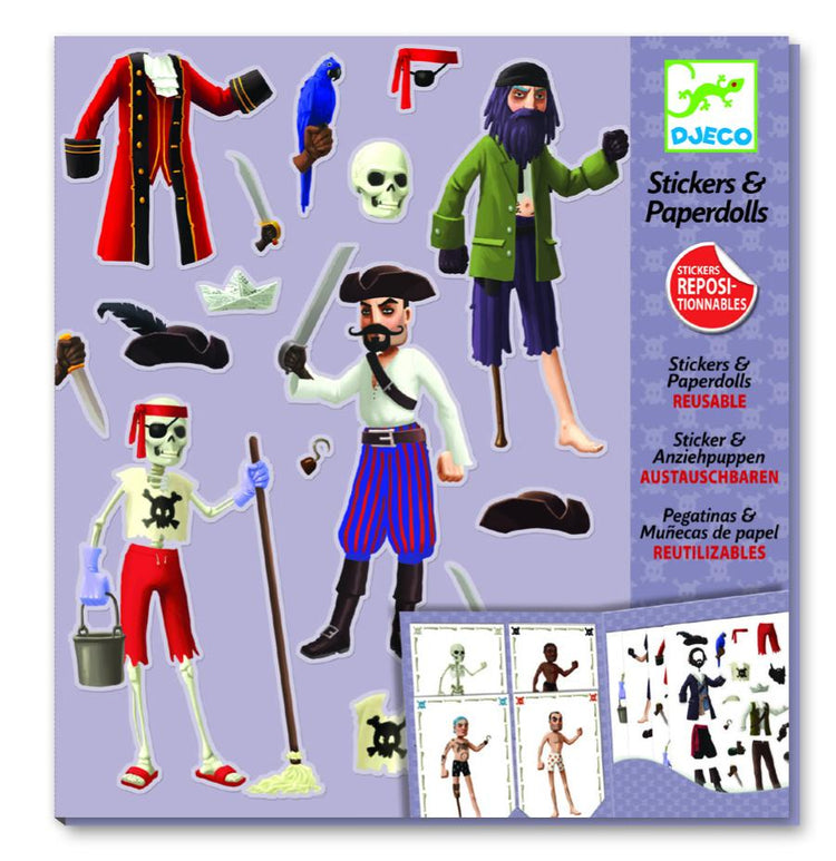 Arts & Crafts - Stickers & Paper Doll Set - Pirates