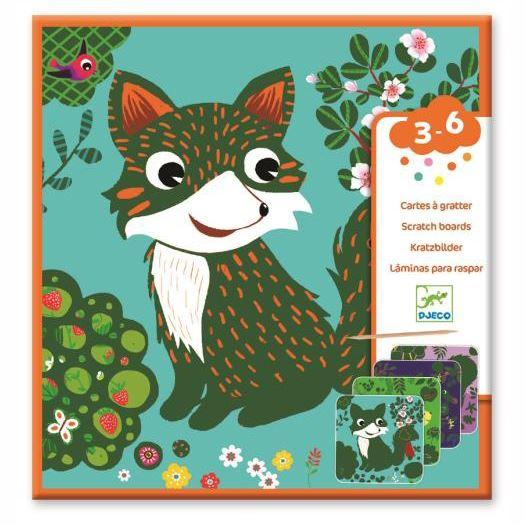 Arts & Crafts - Woodland Creatures Scratch Cards For Little Ones