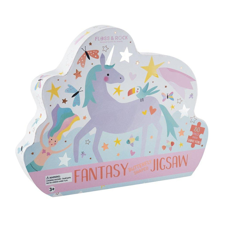 "Fantasy 80pc  Butterfly"" Shaped Jigsaw"""