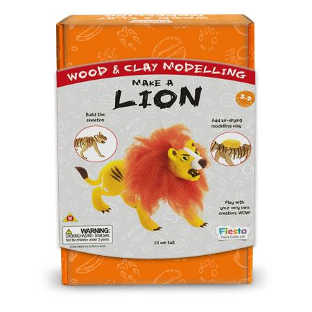 Wood & Clay Kit - Make a Lion
