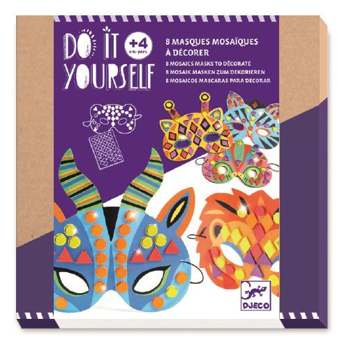 Djeco Do It Yourself Jungle Mosaics Masks