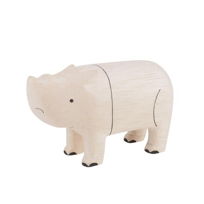 Polepole Wooden Animal - Rhino