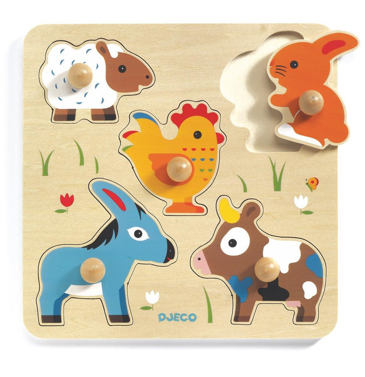 Wooden Large Button Puzzle - Hihan & Co