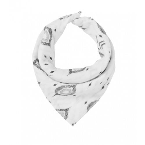 Angel Dear Gray Ikat Bandana Bib
