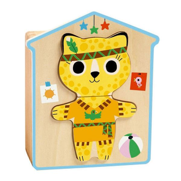 Djeco Dress-up Puzzle - I Want That Present
