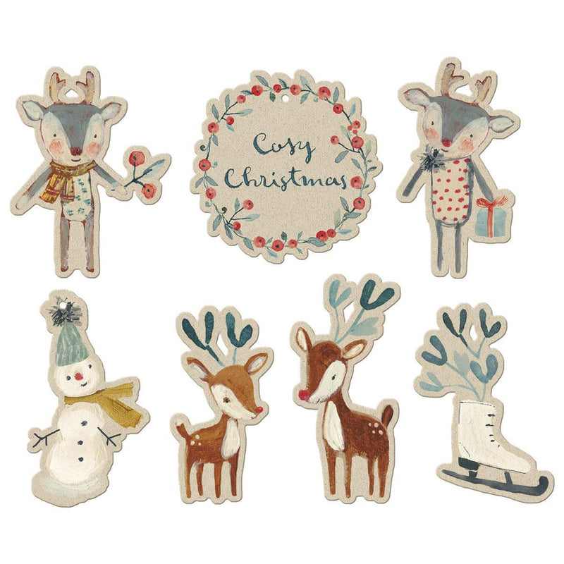 Maileg Cosy Christmas Gift Tags - 14 PCS