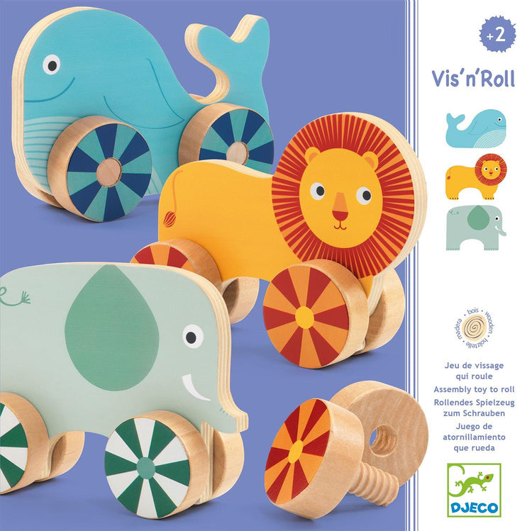 Djeco Construction Toy - Vis'n'roll