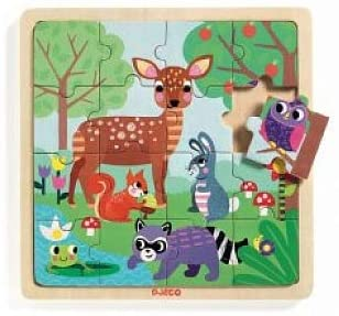 Wooden Tray Forest Puzzle