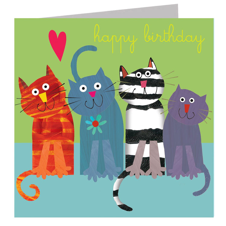 Birthday Card - Fun Cats - I Want That Present